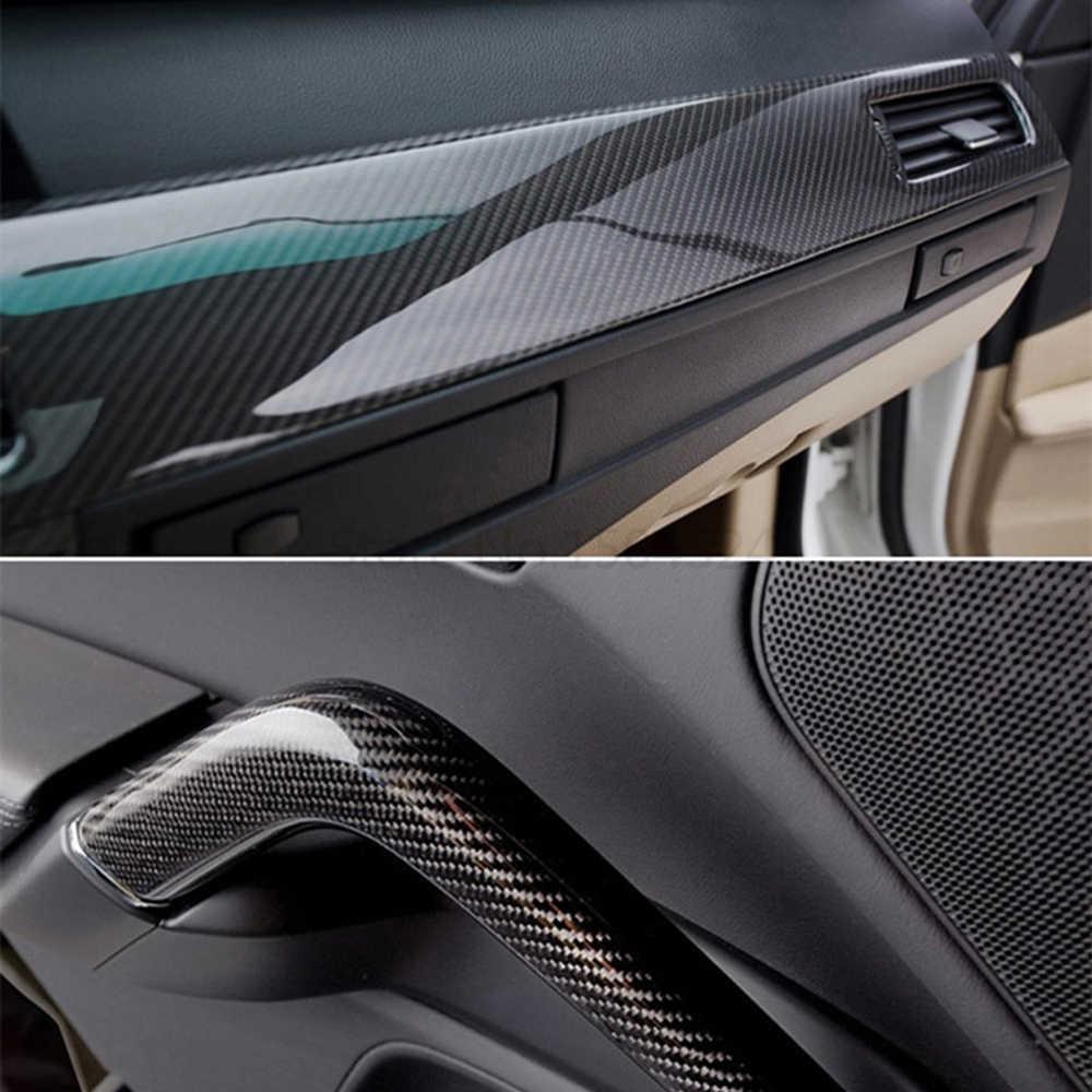 تصفيف السيارة 200 مللي متر X 1520 مللي متر 5D لفائف الياف الكربون عالية لامعة الاعوجاج دراجة نارية ملصقات السيارات اكسسوارات السيارات مقاوم للماء