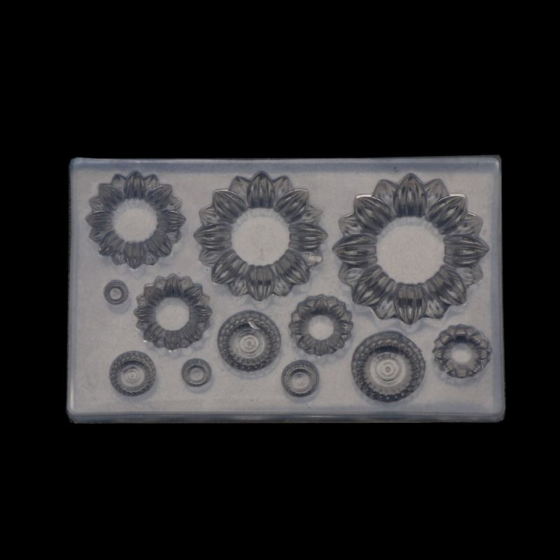 Slilcone UV Resin Mold Sunflower Earrings Pendant Bracelets Mold Jewelry Tools