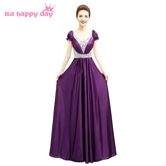 US $51.68 5% OFF|plus size tops sequin women floor length dress gold purple  formal gowns lace up back prom dresses size 18 pageant gown H3044-in Prom  ...