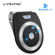 цена на Bluetooth 4.1 Wireless Car Kit Handsfree Car Speaker Phone Noise Cancelling Bluetooth Wireless Speaker Car Kit Hands Free Calls