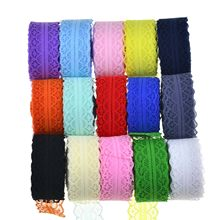 3cm Hollow Out Lace Ribbons for Christmas Halloween Wedding Birthday Party Gift Wrapping DIY Apparel Sewing Fabric Lace Trim(China)