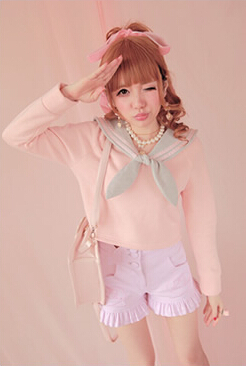 Блузка принцессы в стиле милой Лолиты; BoBON21; эксклюзивный дизайн; темно-синий стиль; изящная шерстяная кофточка; T1068 - Цвет: Розовый