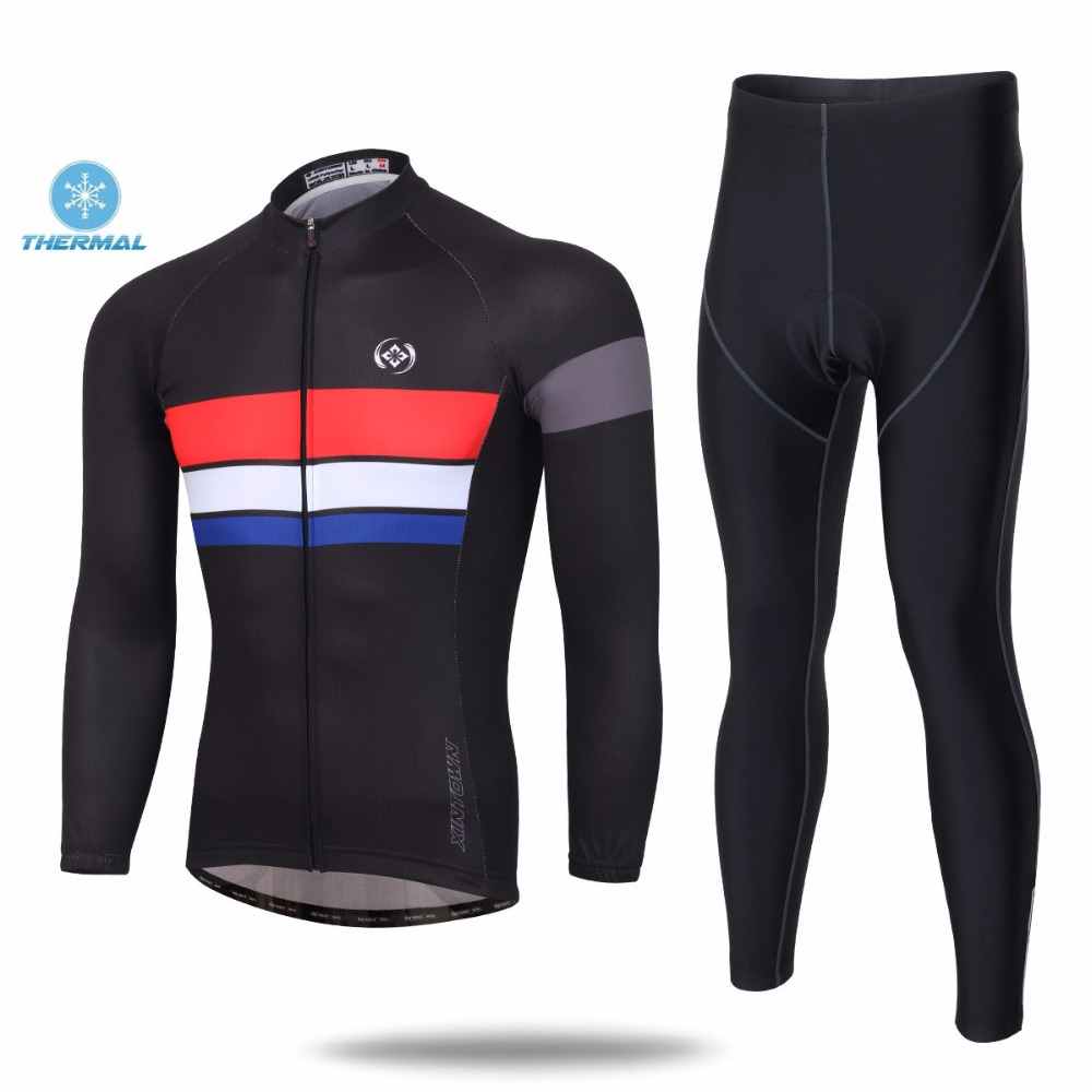 XINTOWN 2016 Thermal Cycling Jersey Long Sleeve bike Clothing Bicycle Jerseys and Pants Set Ropa Ciclismo Banquet Winter