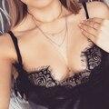 TrinketSea New Design Luxury Torque Golden Chain Choker Collar Necklace Layered Drop Lace Charm Statement Women Fashion Jewelry