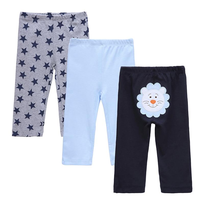 3 UNIDS / LOTE Pantalones de Bebé Primavera y Otoño Encantadores Pantalones de Bebé de Algodón Bebé Recién Nacido Pantalones de Bebé Ropa de Bebé 0-12 Meses
