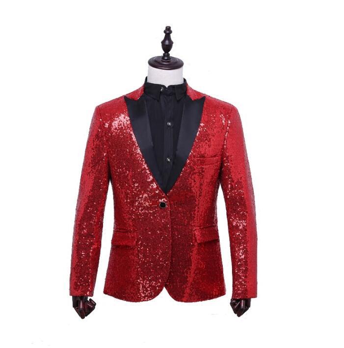 ασημένιο παλτό σακάκι blazer χορεύτρια - Ανδρικός ρουχισμός - Φωτογραφία 2