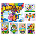 Montessori Educational Toys For Children Tissue Paper Art Painting Kit Children Early Learning DIY Creative Toys Handmade CZ3048