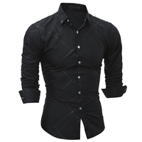 2017 New Men Brand Spring Autumn Features Shirts Men Casual Shirt New Long Sleeve Casual Slim
