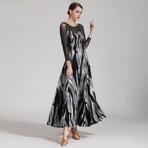 Image 4 - Latin ballroom jurk voor stijldansen vrouwen dans jurk flamenco ballroom praktijk slijtage foxtrot jurk moderne dans kostuums