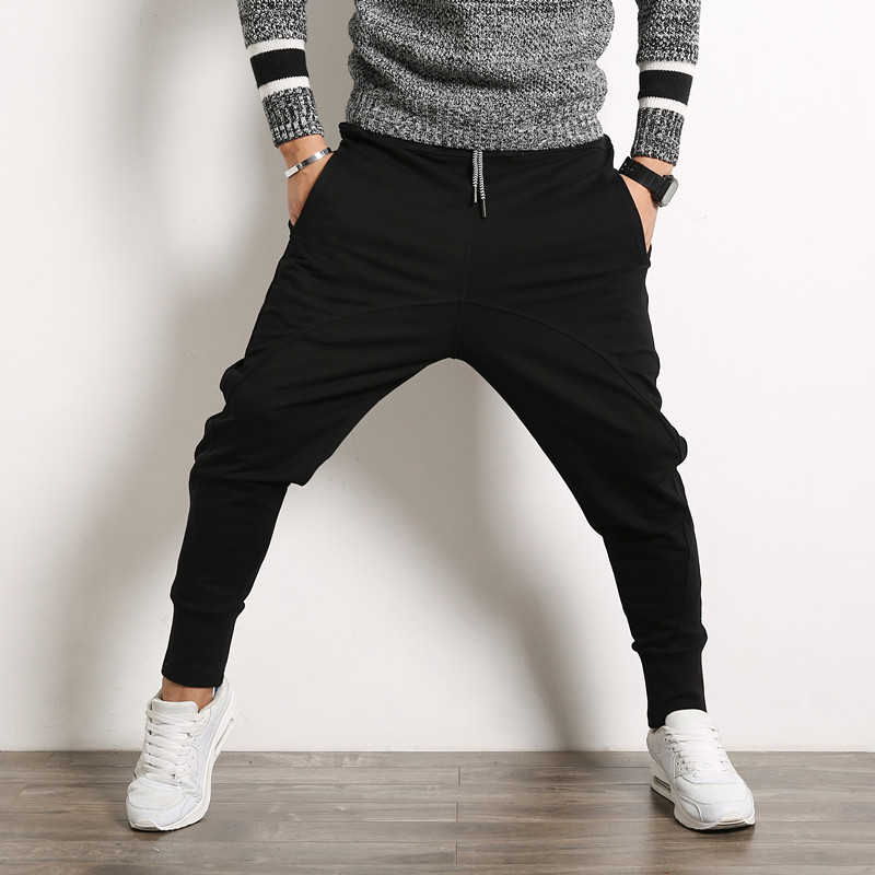 2019 Autumn Men's Harem Pants, Casual Cotton Thin Pants Men , Big Size Street Fashion Hip-hop Pants, Stage Performance Trousers