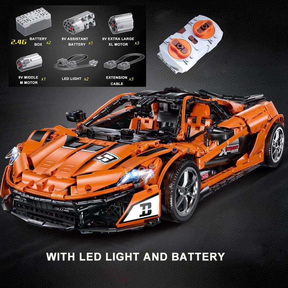 Super Racing Car Compatible with Legoings Technic The MOC 16915 RC McLarened P1 Racer Building Blocks