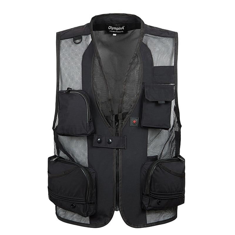 Mens Summer Vest SWAT Tactical Military Combat Paintball Quick Dry Vest Field Photography Work Multi Pockets Mesh Vest