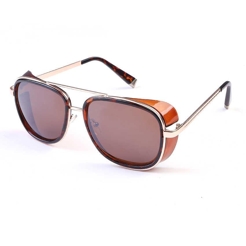 25779d8d565d2 ... New IRON MAN 3 Matsuda TONY Steampunk Sunglasses Men Mirrored Designer  Brand Glasses Vintage Sun glasses ...