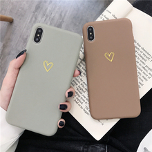 Luxury Case For iPhone X XS XR MAX 6S 7 8 Plus Electroplate Hollow-Out Heart Vintage Candy Color Simple Soft TPU Back Cover