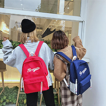 цена на Fashion Letter Print Women Backpack Nylon Student Campus Schoolbag For Girls Large-capacity Casual Travel Backpack New Bags 2019