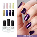 Belle Fille 1Pcs Nail Varnish Soak-off Natural Resin Gel Polish Need UV Lamp Purple 8ml UV Gel Polish Glitter Lacquer