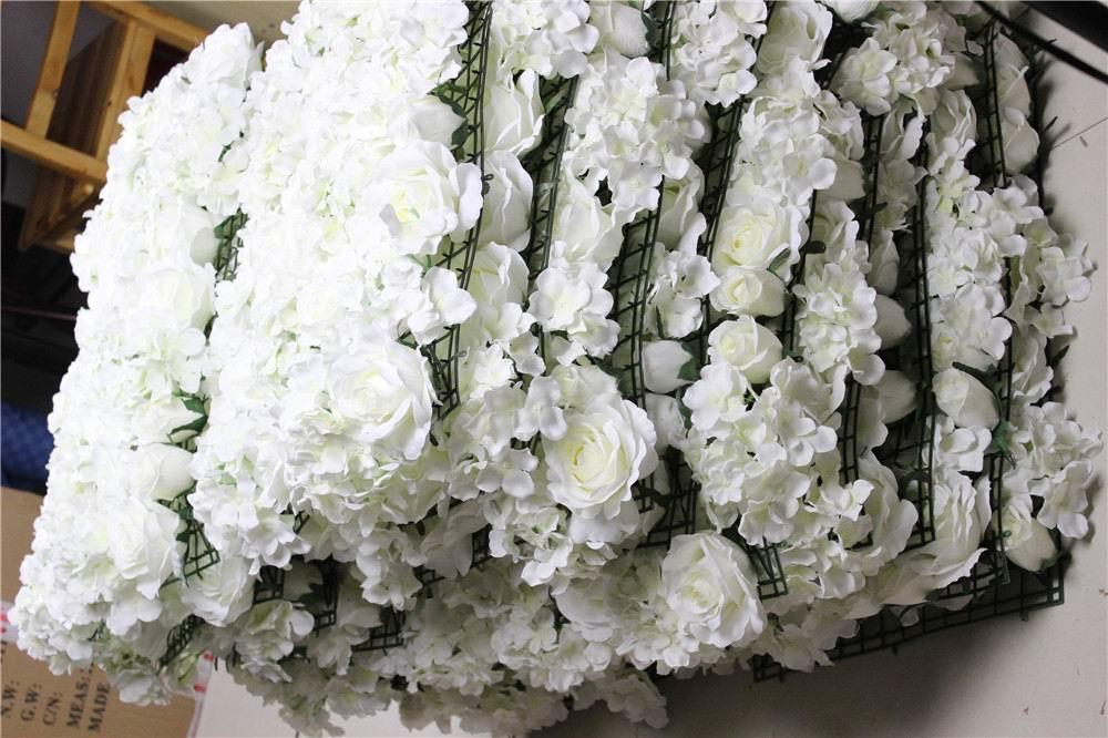 SPR 10pcs / lot Umetna svila rose cvet stena 10 barv poročno ozadje - Prazniki in zabave - Fotografija 1