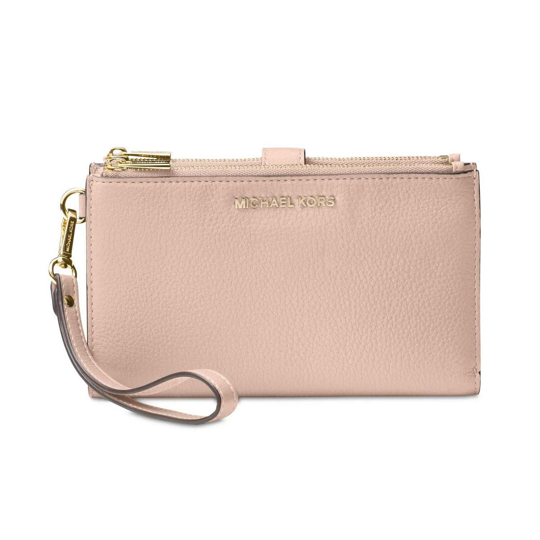 Michael Kors Shoulder Bag Detail Feedback Questions about Michael Kors Adele Double Zip Pebble  Leather Phone Wristlet Luxury Handbags For Women Bags Designer by MK on  Aliexpress.com ...