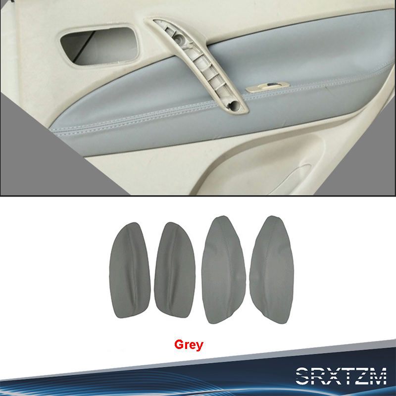 SRXTZM New Interior Door Panel Armrest Microfibre Leather Protect Cover For Chery Tiggo 2005-2009 Customizable Color 4pcs/set(China)