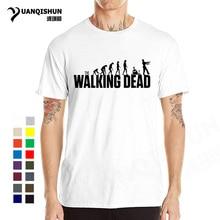 f4dfddf563 THE WALKING DEAD Printing Men T Shirt Evolution Zombie Tshirt Top Quality  Men Cotton Short Sleeve