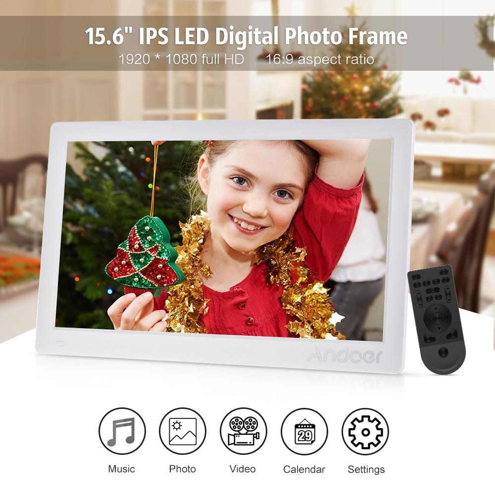 Andoer 15.6inch Digital Photo Frame HD Advertising Machine Full View ...
