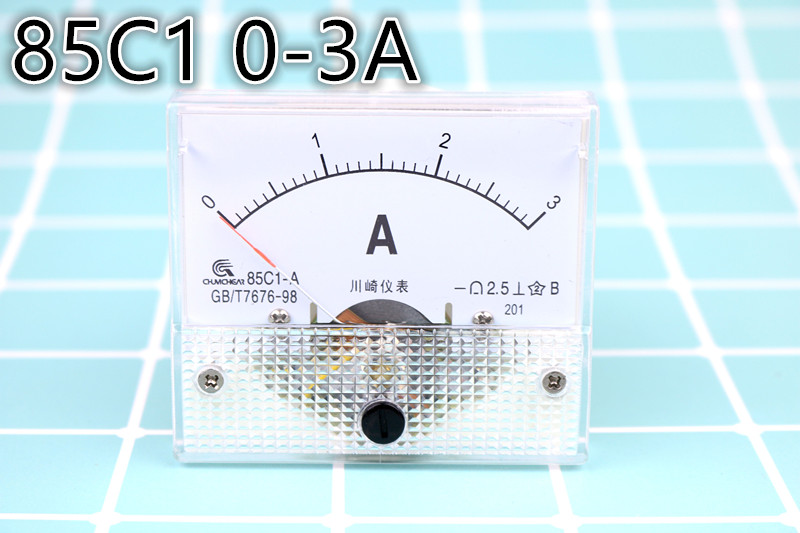 20A 85C1 DC 0-20A Analog Amp Meter Ammeter Current Panel Directly Connect