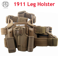 1911A Black Color Quick Tactical Military Special Forces Right Hand Paddle Leg Belt Fit Drop Leg