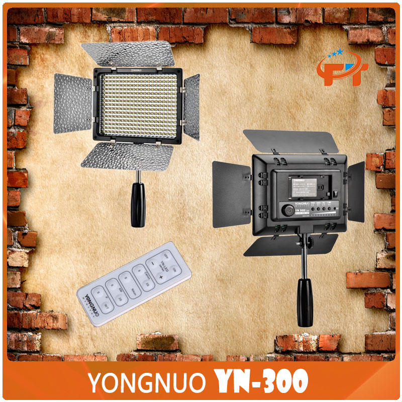 Yongnuo YN-300 Photographic Lighting LED Studio Video Light for Canon for Nikon Camera DV Camcorder godox led 308y 308 leds professional led video 3300k light with remote control for canon nikon camera dv camcorder