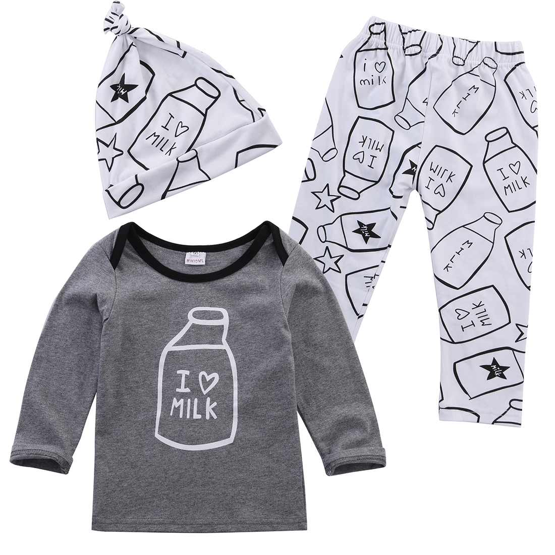 Newborns Kids Baby Girls Outfit Clothes T-shirt Tops+Long Pants Trousers 3PCS Set newborn baby girl clothes Clothing for babies