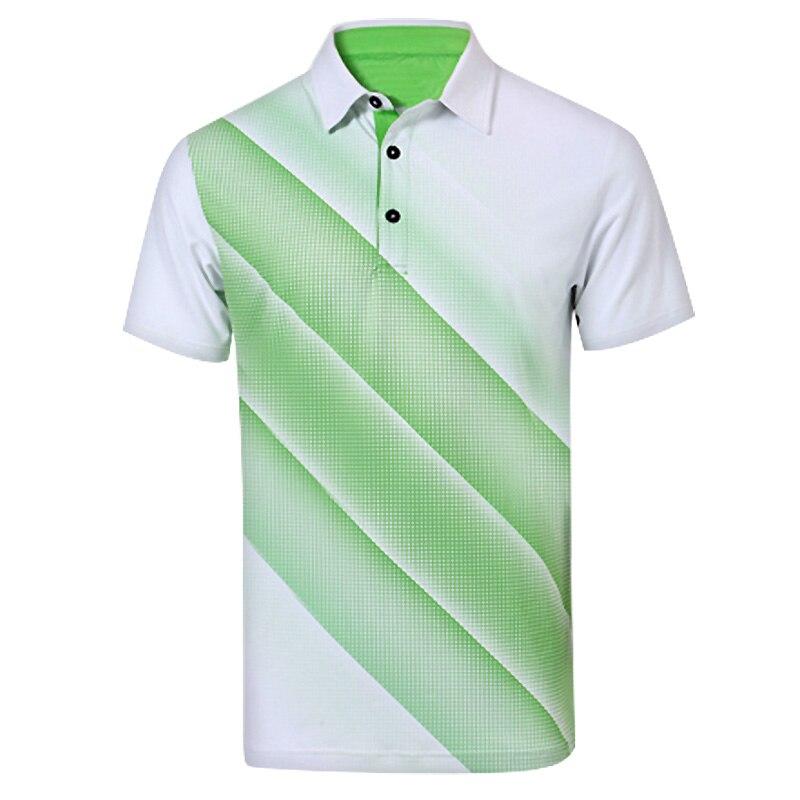 Golf Mens Polo Shirt Short Sleeve T-shirt 86% Fibre 14% Spandex Breathable