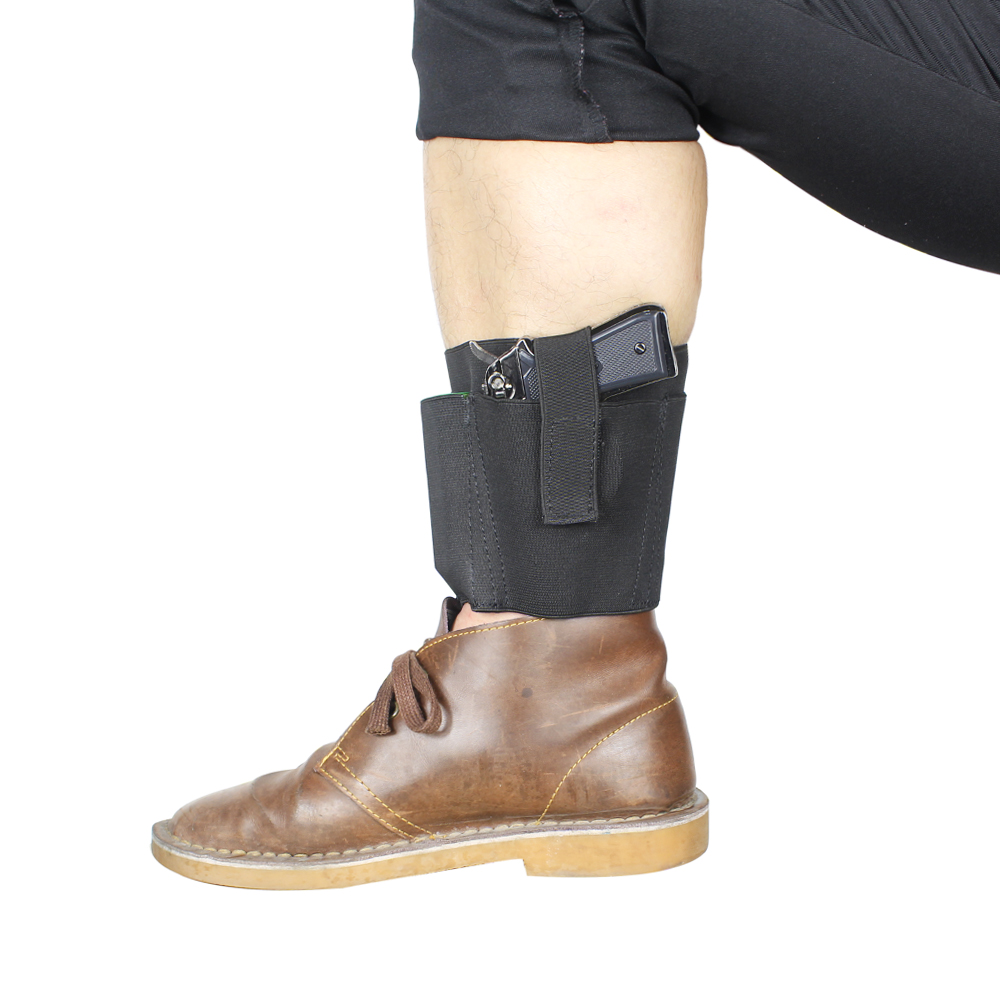 Ankle Holster for Concealed Carry with 2 Mag Pouch Fits Ruger LC9, LCP,Glock 42,26, S&W Bodyguard .380 Similar Handguns