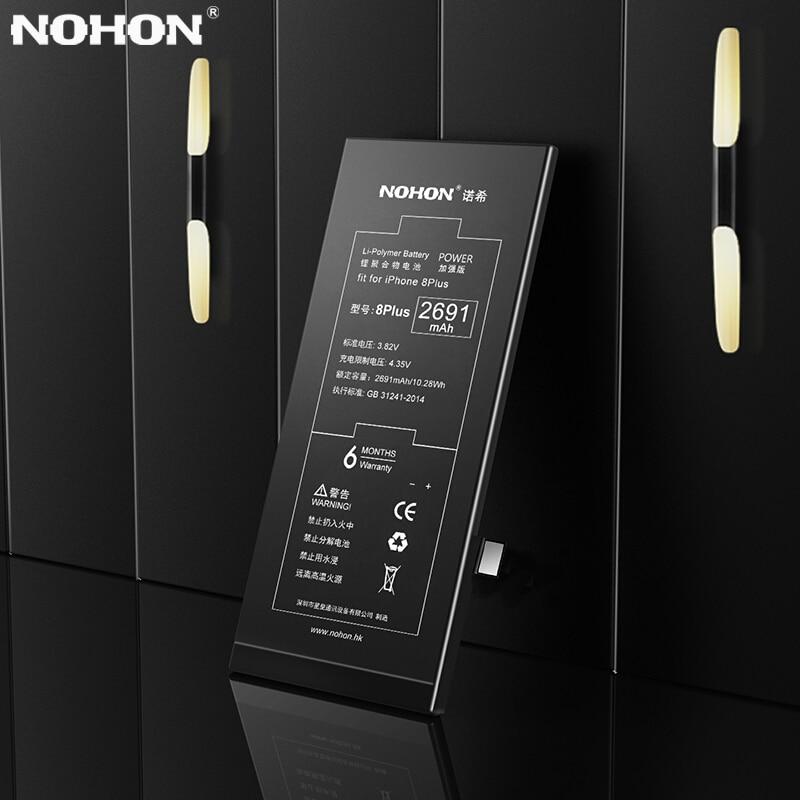 D'origine NOHON Pour Apple iPhone 8 7 6 Plus La Batterie 7G 6 Plus 7 Plus 8 Plus iPhone7 iPhone8 8G Remplacement Au Lithium Polymère Bateria