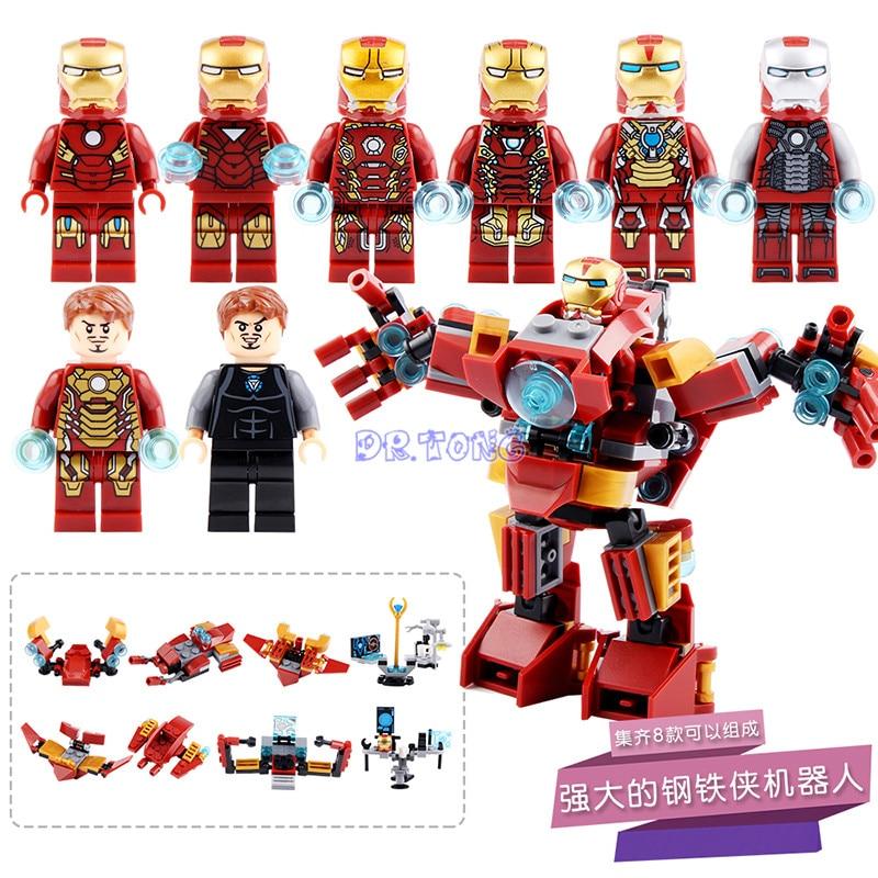 DR TONG Marve Super Heroes Movie Avengers Iron Man DIY Hulkbuster Bricks Model Building Blocks Toys