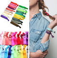 100 Pcs/lot Wholesale Candy Color Ponytail Holders twist yoga Ribbon Elastic Bands/ Hair Ties Hair H1307