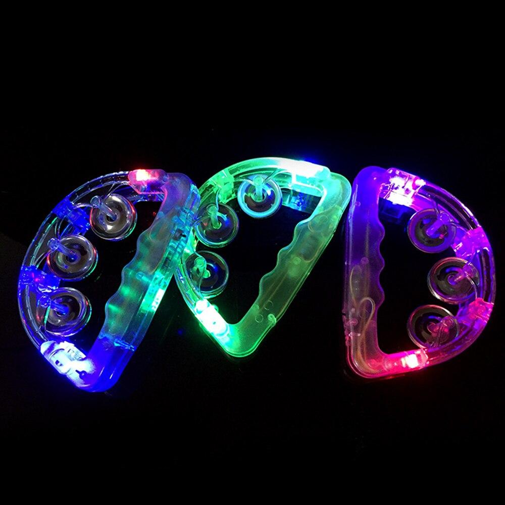 Kleurrijke Led Knippert Baby Rammelaar Hand Bell Bananasplit Christmas Light Up Led Tamboerijn Lichtgevende Speelgoed Bar Ktv Party Prop Hooggeprezen En Gewaardeerd Worden Door Het Consumerende Publiek