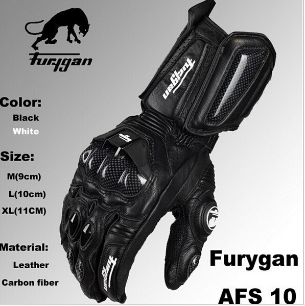 Free shipping Furygan Motorcycle Leather Gloves AFS 10 Moto GP Gloves carbon sport of motorcycle racing gloves