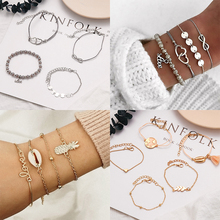 Fashion Letters Tassel Bracelet set for women Turtle Animal Fruit Geometric Beads Multilayer Charm Party Jewelry Gifts