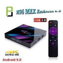 H96 Max 4GB 32GB/64GB Media Player Android 9.0 TV Box 2.4G&5G Wifi BT4.0 Rockchip RK3318 Smart