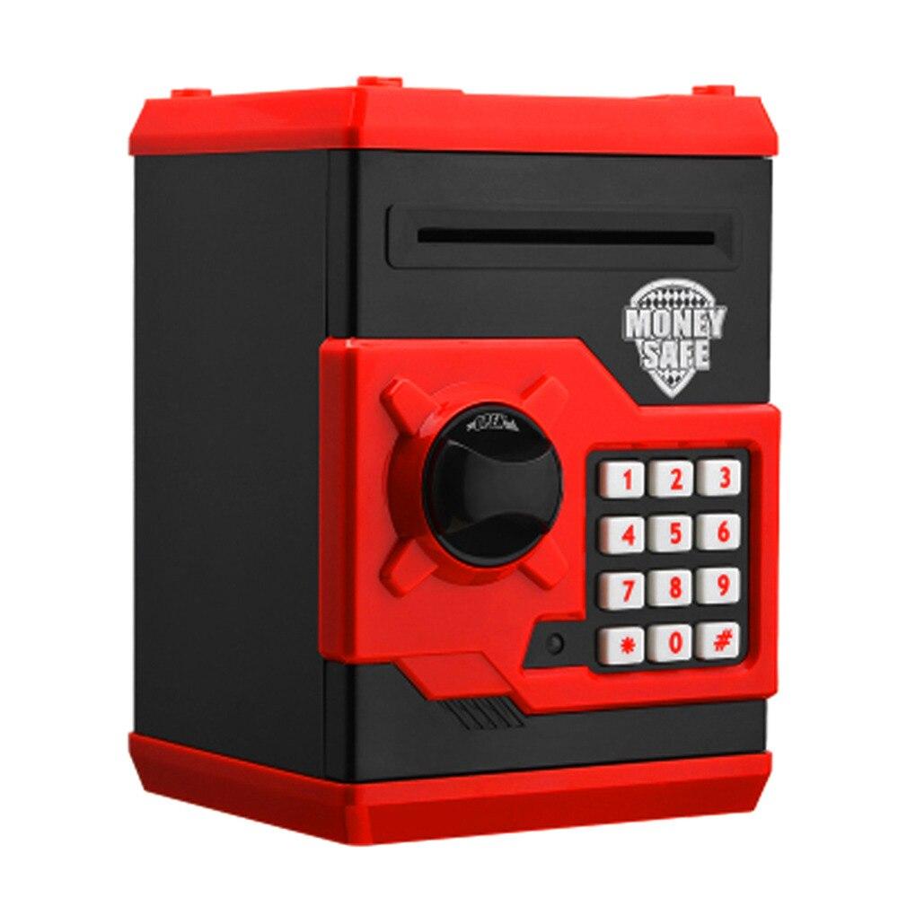 Hucha electrónica Cajero Automático Mini caja de dinero de la seguridad de la contraseña de moneda de depósito en efectivo de regalo para niños