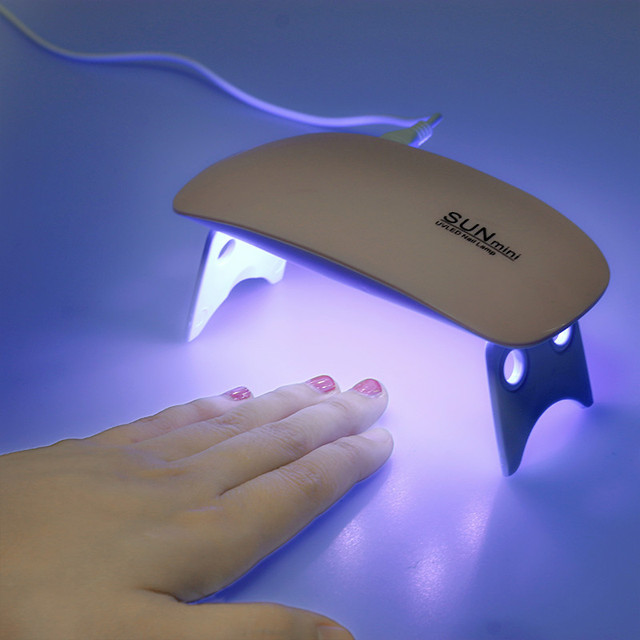 OSHIONER Portable Mini 6W LED Lamp Nail Dryer USB Charge 30s 60s Timer LED Light Quick Dry Nails Gel Manicure For Nail Art