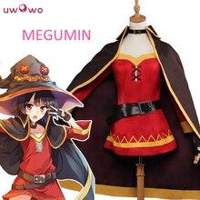 Uwowo megumin Косплэй konosuba Божье благословение на этот чудесный мир костюм megumin Косплэй Для женщин костюм