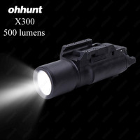 Ohhunt戦術ledピストルm4ライフル懐中電灯x300ランテルナ超白色光500ルーメン狩猟射撃