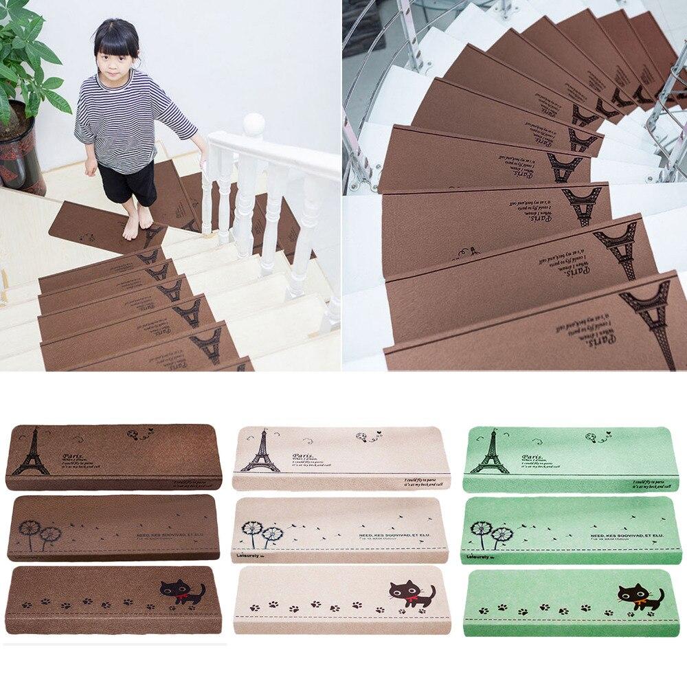 NC 13 шт. Нескользящие самоклеющиеся Крытый Детская безопасность лестницы на ступеньки, на лестницу коврики ковры коврик для лестницы област...