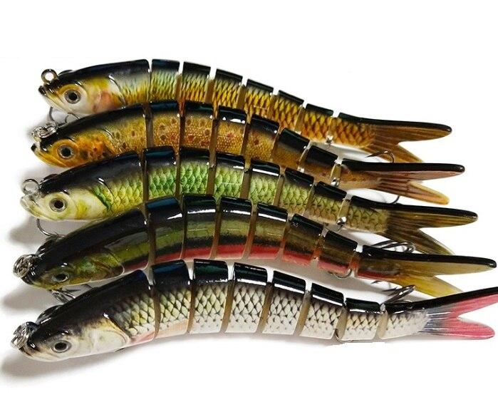 Lent naufrage multi pièces faux poisson pour leurre fisihing 14cm 25g ABS matériaux 12 pcs