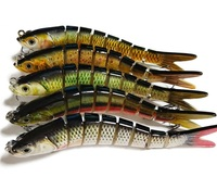 Slow sinking multi pieces fake fish for lure fisihing 14cm 25g ABS materials 12 pcs