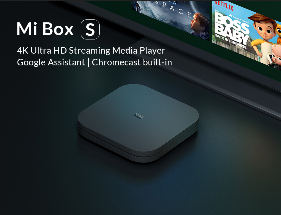 Original Globale Xiao mi mi TV Box S 4 karat HDR Android TV 8,1 Ultra HD 2g 8g WIFI Google Cast Netflix IPTV Set top Box 4 Media Player