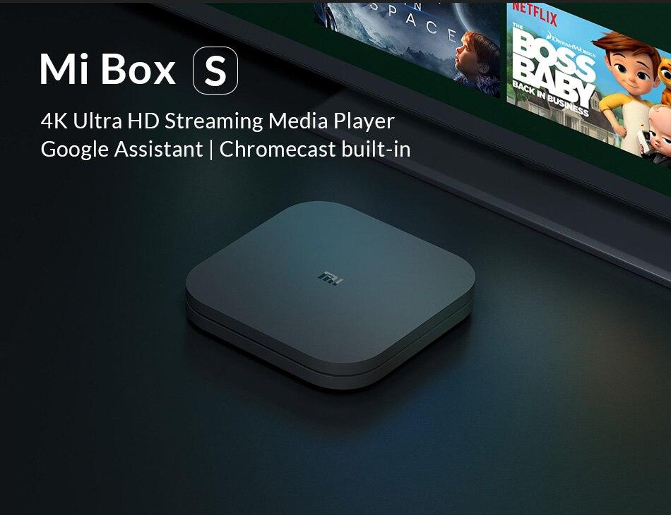 Original mundial Xiaomi mi TV Box S 4 K HDR Android TV 8,1 Ultra HD 2G 8G WIFI google Cast Netflix IPTV Set top Box 4 reproductor de medios