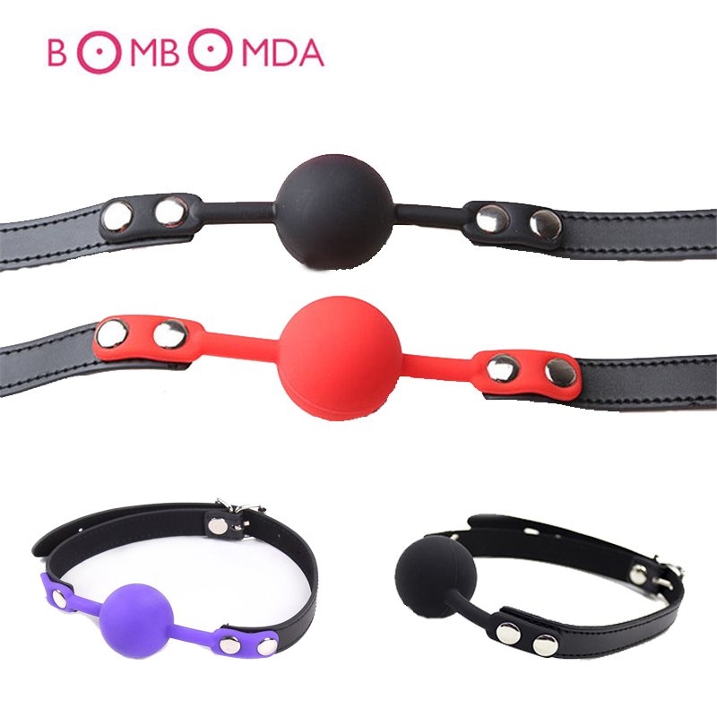 Buy Adult Games Open Mouth Ball Mouth Gag Slave Stuffed Oral Fixation Harness Erotic Restrictions SM Bondage Fetish Couples Sex Toys