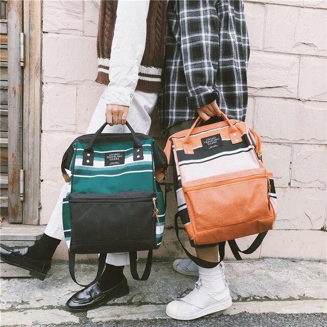 الاتجاه الجديد الإناث على ظهره موضة قماش المرأة على ظهره في سن المراهقة حقائب مدرسية عادية الكلاسيكية حقيبة المدرسة الإناث