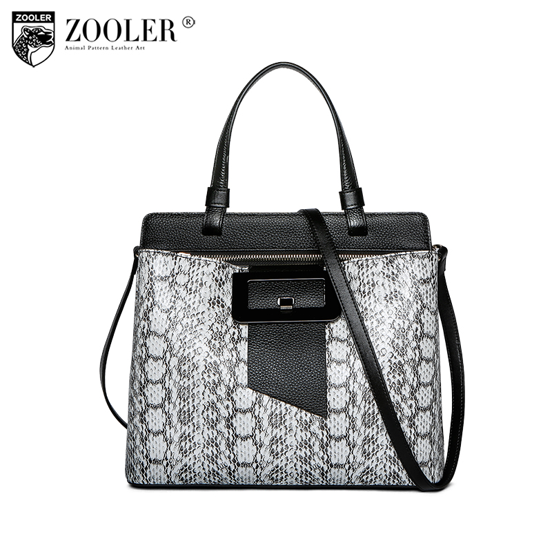 hot new &hot woman leather bag ZOOLER 2018 genuine leather bags handbag women famous brand bolsa feminina serpentine style #u501 hot